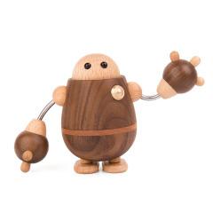 MUSOR 机器人音乐盒八音盒木质礼品 适合给孩子礼品