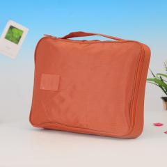 韓版多功能防水旅行襯衣領帶衣物整理收納包--橙色