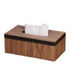 创意简约欧式办公桌面纸巾盒 办公桌面家用pu皮革复古收纳盒 企业礼品定制送什么