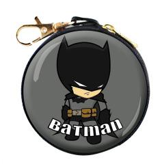 【蝙蝠俠】威漫系列卡通數據線耳機收納包 圓形馬口鐵 進店有禮 小禮品