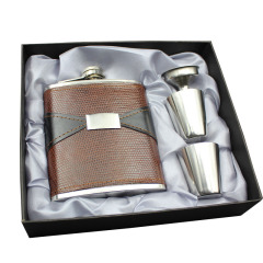 便携式创意酒壶  7盎司不锈钢酒具套装 50元可以买什么礼品