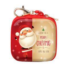 带钥匙扣 正方形圣诞节卡通圣诞老人零钱包 收纳包 圣诞节小礼品有些什么