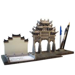 徽州尚书坊办公台座 创意桌面摆件 创意特色树脂摆件 文创礼品