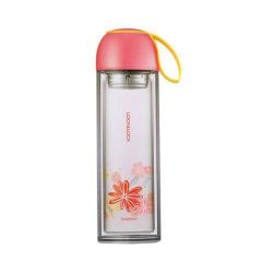樂扣樂扣(Lock&Lock)經典雙層花卉防燙玻璃杯 LLG658 男女隔熱茶杯 營銷活動小禮品