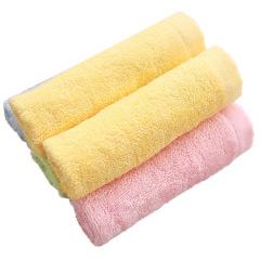 素色竹纤维25*25小方巾 婴幼儿宝宝口水巾 柔软吸水小毛巾 促销礼品定制 活动礼品赠送