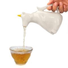 白瓷创意独角兽水壶 爆款卡通陶瓷冷水壶 创意小礼品