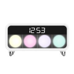 荣事达(Royalstar)无线充电七彩多功能氛围唤醒灯时间显示 会议实用纪念品