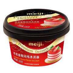 【京东伙伴计划—仅限积分兑换】明治(meiji)草莓慕斯风味冰淇淋 100g/个 高级杯装