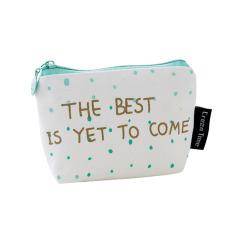 【小圆点】绿色系零钱包 帆布包耐磨手感好 拉链精良使用方便 儿童比赛奖品
