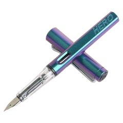 英雄/Hero 树脂渐变磨砂钢笔 炫彩正姿签字笔 商务办公礼品