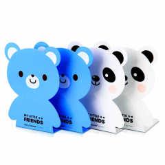 得力(deli)熊猫小熊可爱卡通书立 周年庆创意小礼品