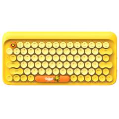 【LOFREE】小黃鴨 dot圓點藍牙機械鍵盤 無線復古ipad平板蘋果MAC辦公鍵盤 商務電子禮品