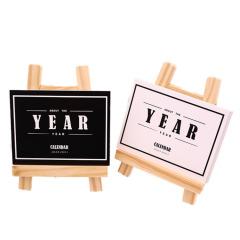 【YEAR2019】原木简约2019台历 迷你日历定制 扫码小礼品