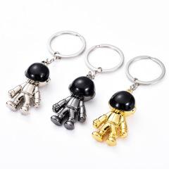 金属宇航员钥匙扣挂件 仿真太空人 企业礼品定制方案