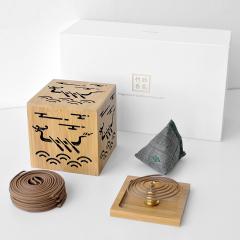 【龙舟泛江】竹制香炉+手制香囊艾草包 端午香礼 东方美学商务端午礼盒