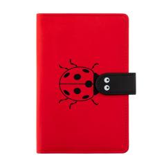 可愛小瓢蟲搭扣手賬本 精美絨布袋包裝 創意文創禮品
