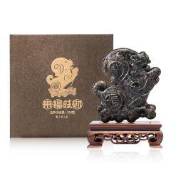狗年【来福旺财】生肖立体普洱茶茶雕定制 公司年货高档礼物