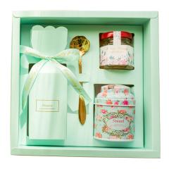 小清新少女心创意礼盒 牛轧糖+百花蜜+水果干 公司活动礼品 便宜