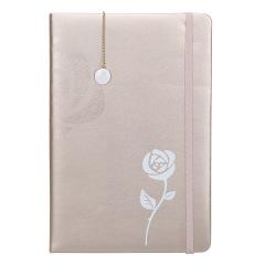 【NANV】A5玫瑰筆記本書簽兩件套 簡約商務筆記本套裝 活動會議紀念禮品