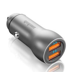 铝合金双USB车充 一拖二3.1A车载充电器 汽车礼品定制