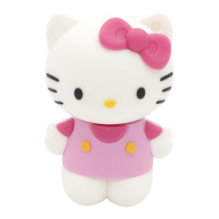 U盘定制 迷你PVC软胶U盘 Hello Kitty卡通U盘 立体粉红凯蒂猫优盘8G 创意的奖品