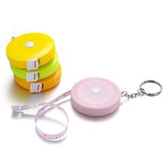 马克龙色彩带钥匙圈小卷尺 测量范围150cm 大学生喜欢的礼品