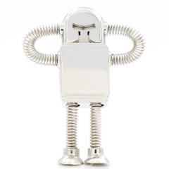 U盘定制 金属机器人U盘高速U盘 创意金属弹簧人优盘 展会小礼品 礼品有哪些