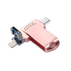 手机iphone TYPE-C 电脑三合一U盘 商务小礼品