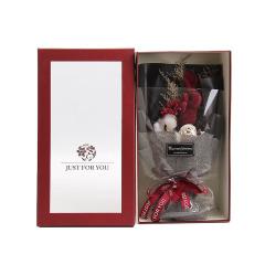 ins风许愿兔花束礼盒 玫瑰干花大花束 七夕情人节礼品
