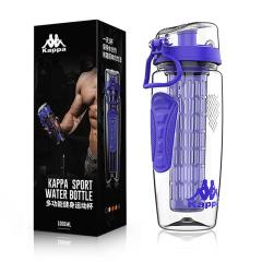 Kappa 意大利背靠背 多功能炫彩健身运动杯1000ml 送客户什么礼品最实用