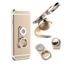 【弧边磁旋】多功能指环扣 手机磁力支架 360°磁旋Q 指环支架 精美汽车礼品