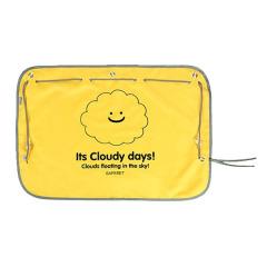 创意侧窗it's cloudy day随手汽车遮阳帘 2层防晒防紫外线车载礼品 车展随手赠礼品