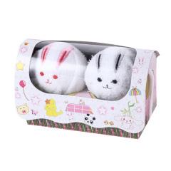 【情侣动物】小白兔款 创意造型毛巾 手帕 展会促销礼品