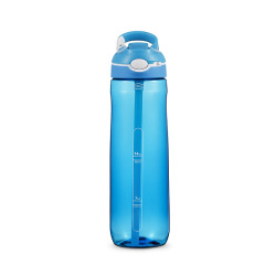 TRITAN材质750ML一键开启运动挂扣吸管水杯 运动户外水壶 展会上派发什么礼品比较合适