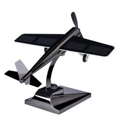 太阳能汽车车内饰品摆件飞机个性旋转