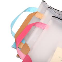 大号手提A4透明拉链文件袋收纳资料包文具 促销礼品