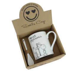 兔斯基陶瓷杯+勺子套装 礼品杯套装 促销礼品广告杯定制