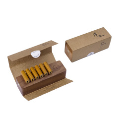 创意整块原木办公桌面数据线整理座 束线器 中秋节员工礼品办公收纳