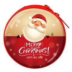 圣诞节零钱包耳机包 圣诞老人收纳包小礼品 圣诞节促销礼品