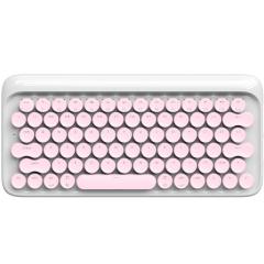 【LOFREE】粉粉少女心 dot圓點藍牙機械鍵盤 無線復古ipad平板蘋果MAC辦公鍵盤 商務電子禮品