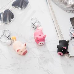 會叫的小豬豬Led燈光鑰匙圈 童趣鑰匙扣掛件生動可愛 發光小禮品