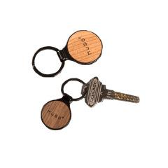 实木金属钥匙扣定制木质汽车钥匙挂件定制