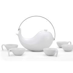 【大太极】中国特色纯白黑茶壶盖碗送长辈高端商务礼品功夫茶具
