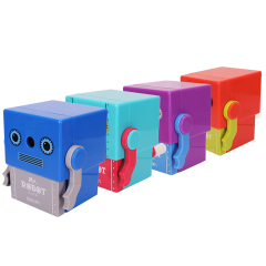 得力(deli)会举重的机器人削笔器 削笔刀 门店定制礼品
