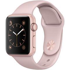 APPLE ( 苹果)  Apple Watch Sport Series 1智能手表(38毫米玫瑰金色铝金属表壳搭配粉砂色运动型表带 MNNH2CH/A)