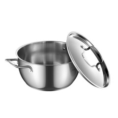 美的(Midea)TG24S5汤锅 304不锈钢锅具三层复底汤炖锅