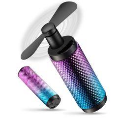 创意两用可折叠移动电源迷你风扇 口袋电源风扇 充电宝2200mAH 送客户礼品推荐