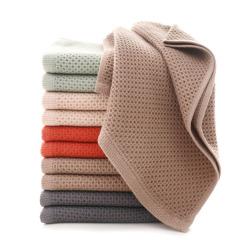 創新透氣蜂窩柔軟純棉毛巾 酒店小禮品贈送方案