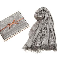 竹印象 100%磁疗纤维保健围巾 磁灸披肩礼盒 女客户送什么礼物好