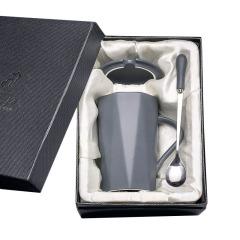 简约几何陶瓷杯礼盒装380ml 商务礼品赠品